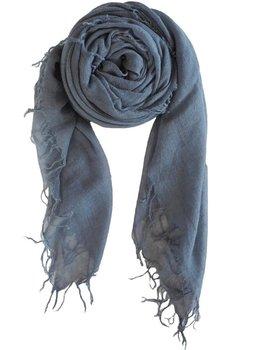 sjaal SjaalMania Cashmy Steel Gray