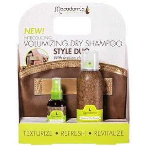 Macadamia Volumizing Dry Shampoo Duo Set + Gratis tasje