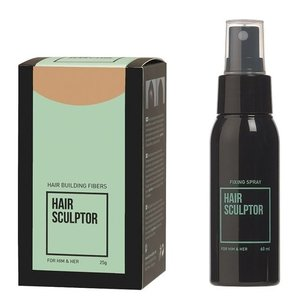 Hair Sculptor Hair Building Fibres Blond + Hair Sculptor Fixing Spray