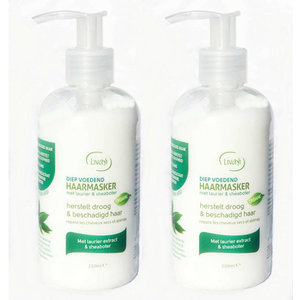 Herbalicea Laurier & Sheabutter Haarmasker 250ml Duopack