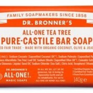 Dr Bronners barsoap  tea tree 140gr