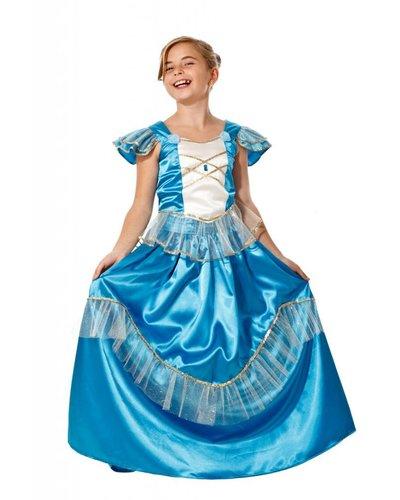 Magicoo Prinzessin Kostüm türkis blau für Kinder