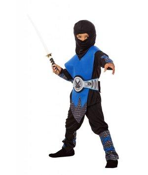 ninja kost m kind schwarz silber blau. Black Bedroom Furniture Sets. Home Design Ideas