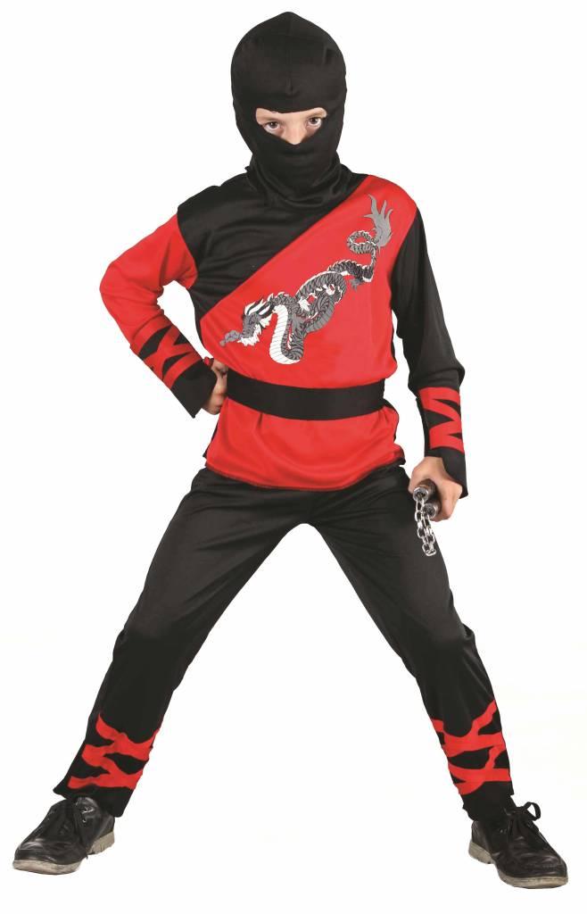 ninja kost m dragon schwarz rot f r kinder. Black Bedroom Furniture Sets. Home Design Ideas