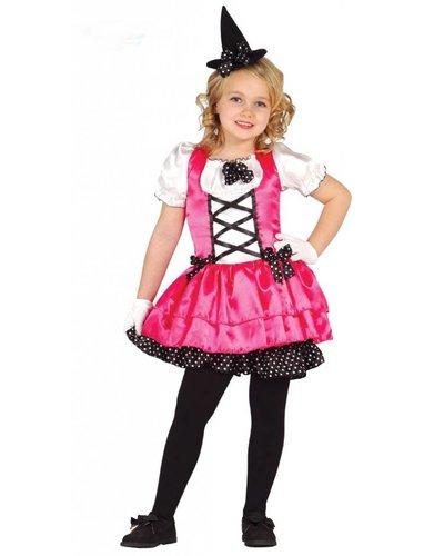 Magicoo Kinderkostüm Hexe Halloween pink
