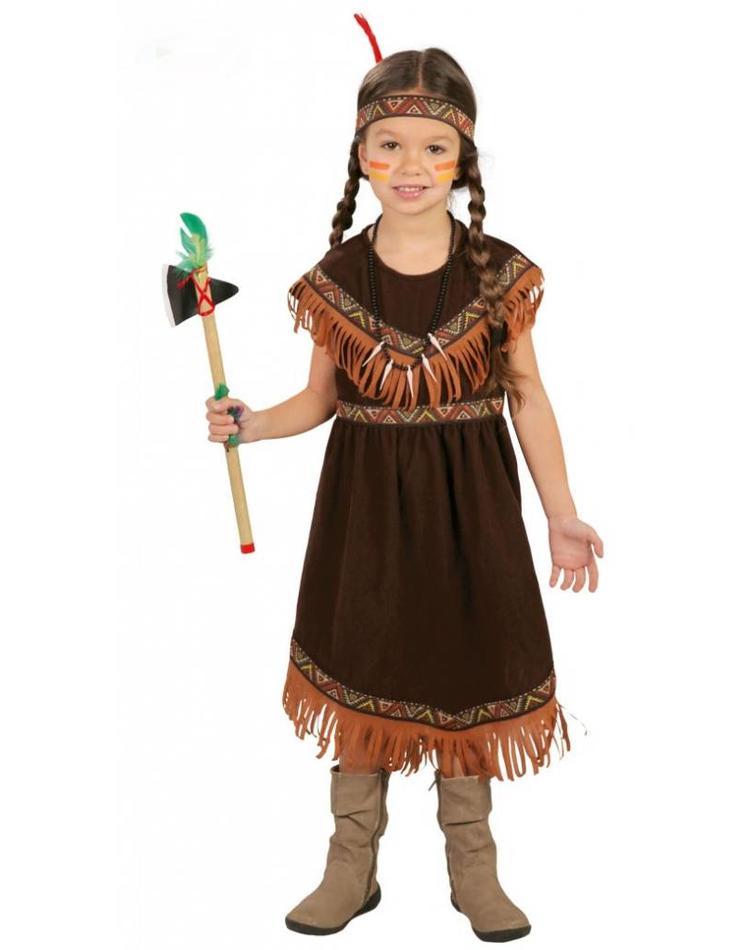 Indianerin Kostum Fur Kind Brau Beige Orange Magicoo De Magicoo