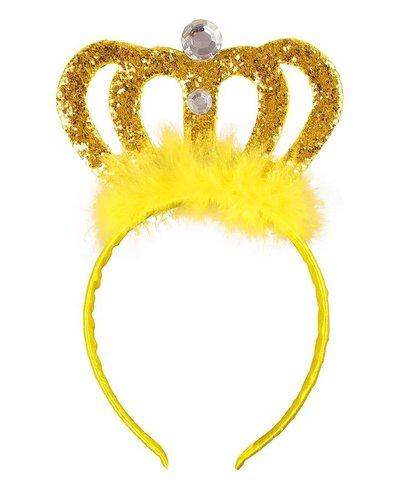 Magicoo Tiara - Diadem Gold mit Steinen