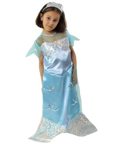 Magicoo Meerjungfrau Kostüm für Kind blau-silber
