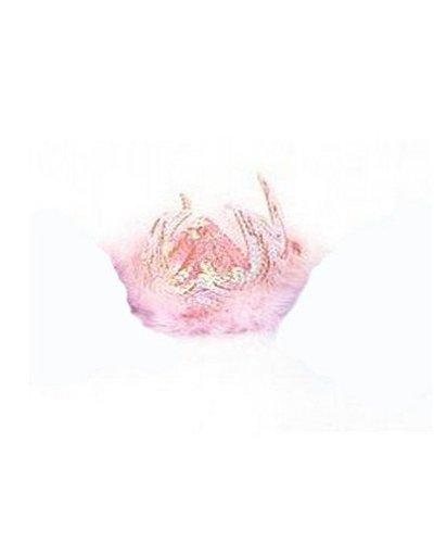 Magicoo Diadem rosa mit Federn und Pailetten
