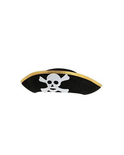 Magicoo Piratenhut für Kinder Schwarz mit goldenem Rand
