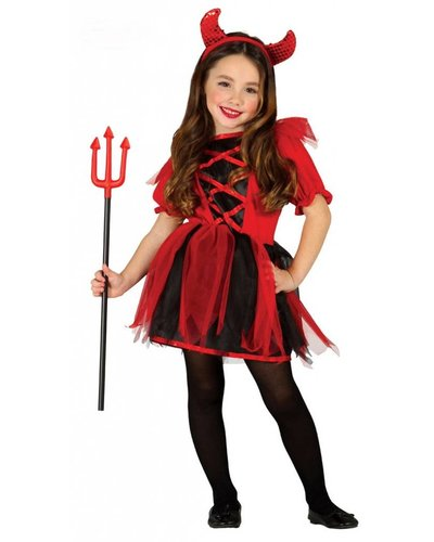 Magicoo Teufelin Kostüm für Kinder - Teufel Kostüm für Mädchen