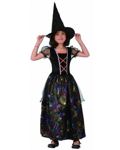 Magicoo Bunte Spinnenhexe - Hexenkostüm für Kinder