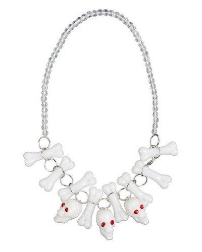 Magicoo Halloween Schmuck - Halskette für Kinder mit Totenköpfen