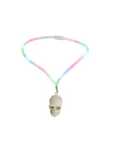 Magicoo Halloween Schmuck - leuchtende Halskette für Kinder mit Totenkopf