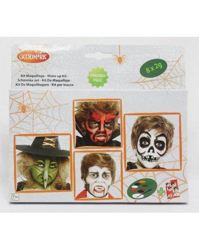 Magicoo Großer Halloween Schminkset mit Anleitung - Aqua Make-up