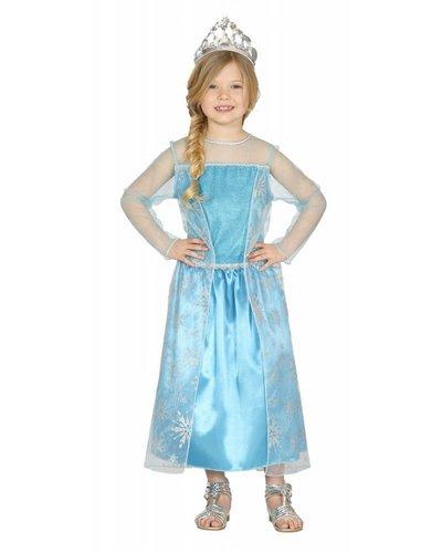 Magicoo Eiskönigin - Prinzessin Kostüm blau für Kinder