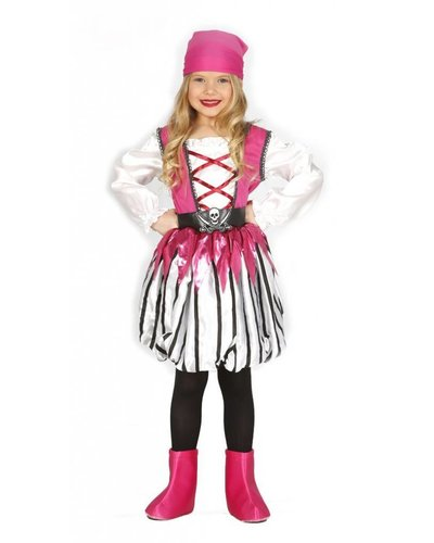 Magicoo Piratin Kostüm für Kinder pink rosa