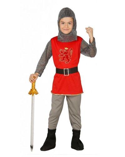 Kostüm Ritter für Jungen rot-silber-grau