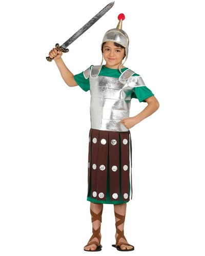 Magicoo Römischer Ritter Kostüm für Jungen silber-grün