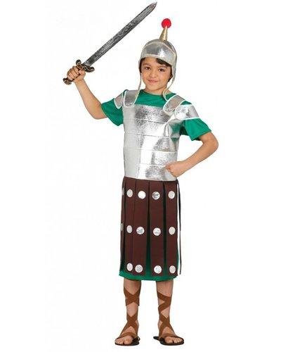 Römischer Ritter Kostüm für Jungen silber-grün