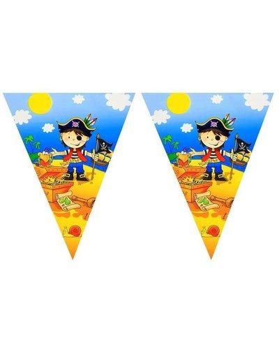 Magicoo Wimpelgirlande für Piratenparty