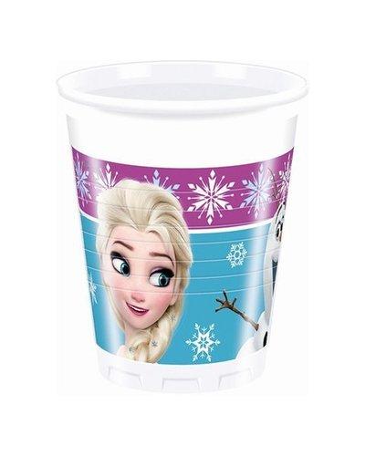 Disney 8 Plastikbecher mit Frozen-Motiv