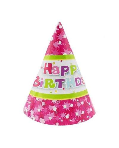 Magicoo 6 Partyhüte rosa Kindergeburtstagsparty