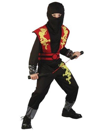 Magicoo Ninja Dragon Kostüm rot für Kinder