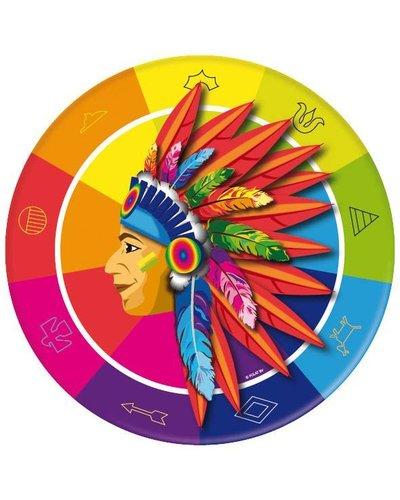 Magicoo 8 Teller für Indianerparty
