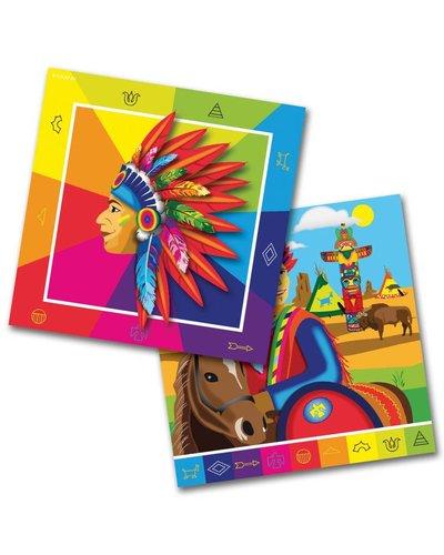 Magicoo 20 Servietten für Indianerparty