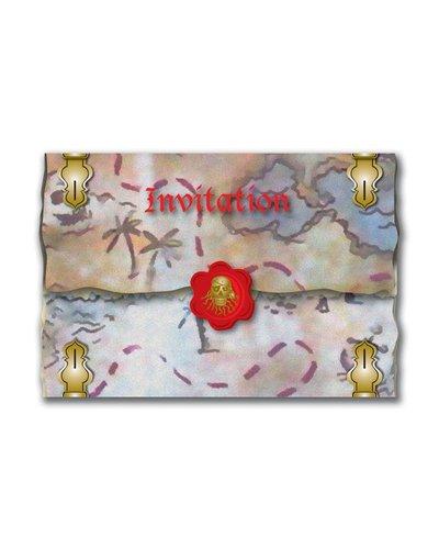 Magicoo 8 Einladungskarten für Piratenparty