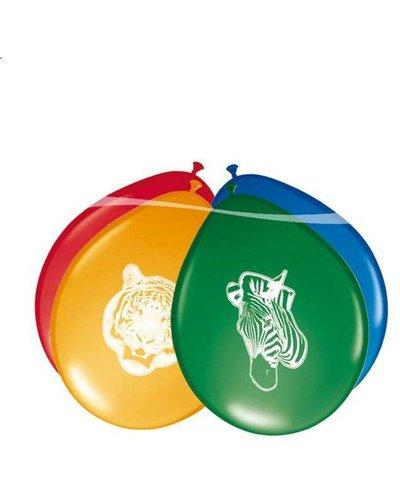 Magicoo 8 Luftballons Tierparty - Safari-Party