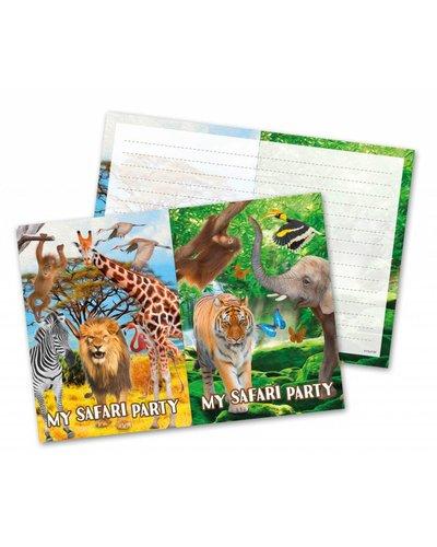 Magicoo Einladungen Tierparty - Safari-Party