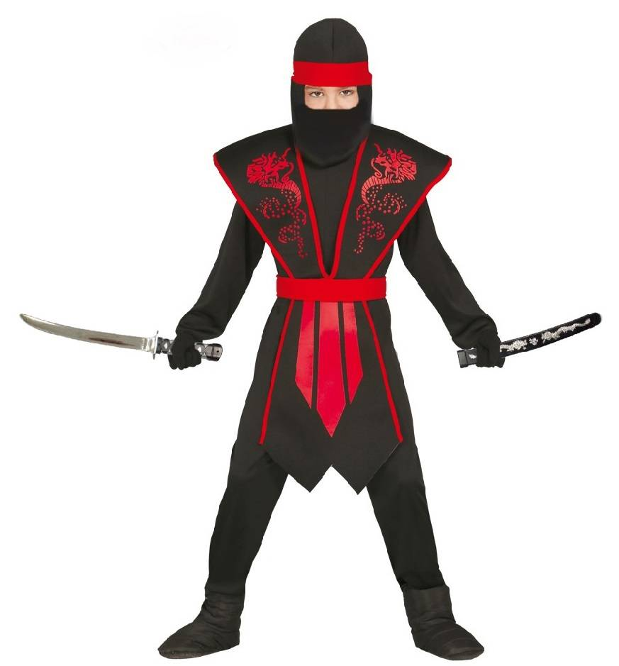 ninja kost m f r kinder schwarz rot. Black Bedroom Furniture Sets. Home Design Ideas