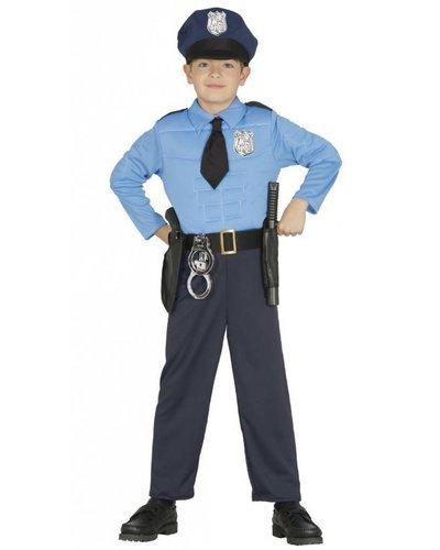 Magicoo Polizist Kostüm Kind mit Muskeln
