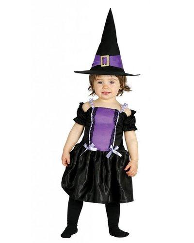 Magicoo Babykostüm Hexe lila-schwarz - Hexenkostüm Kleinkinder