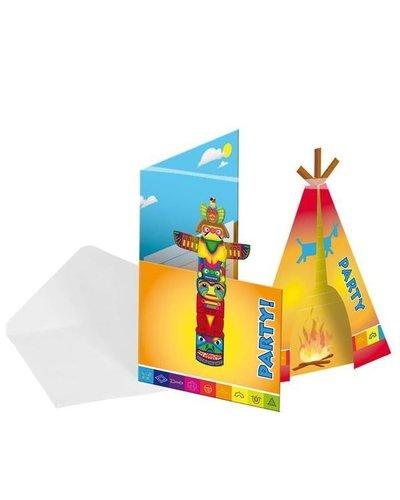 Magicoo indianen party uitnodigingen