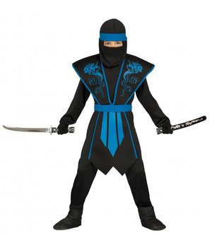 ninja kost m f r kinder schwarz gelb mit totenkopf. Black Bedroom Furniture Sets. Home Design Ideas