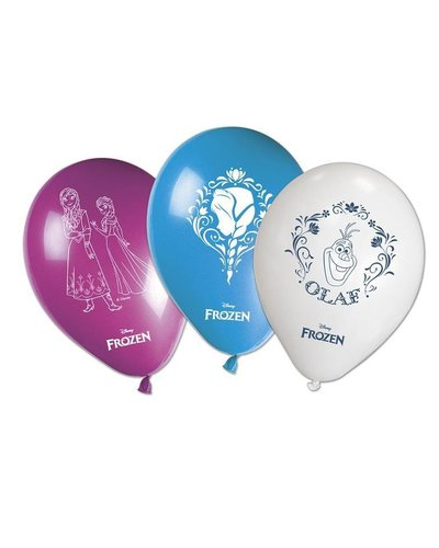 Disney 8 Luftballons in drei Farben mit Frozen-Motiv