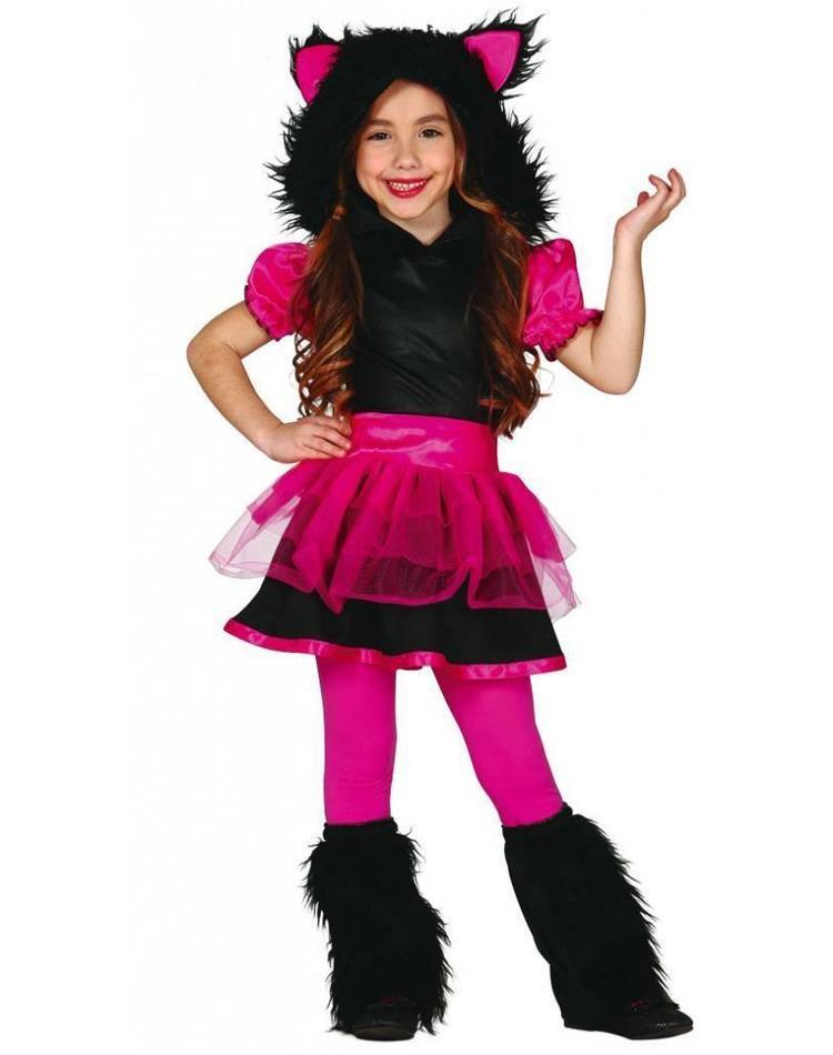 Wolf Kostum Fur Madchen Pink Schwarz Magicoo