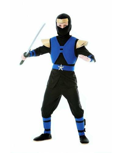 Magicoo Royal Ninjakostüm blau schwarz für Kinder