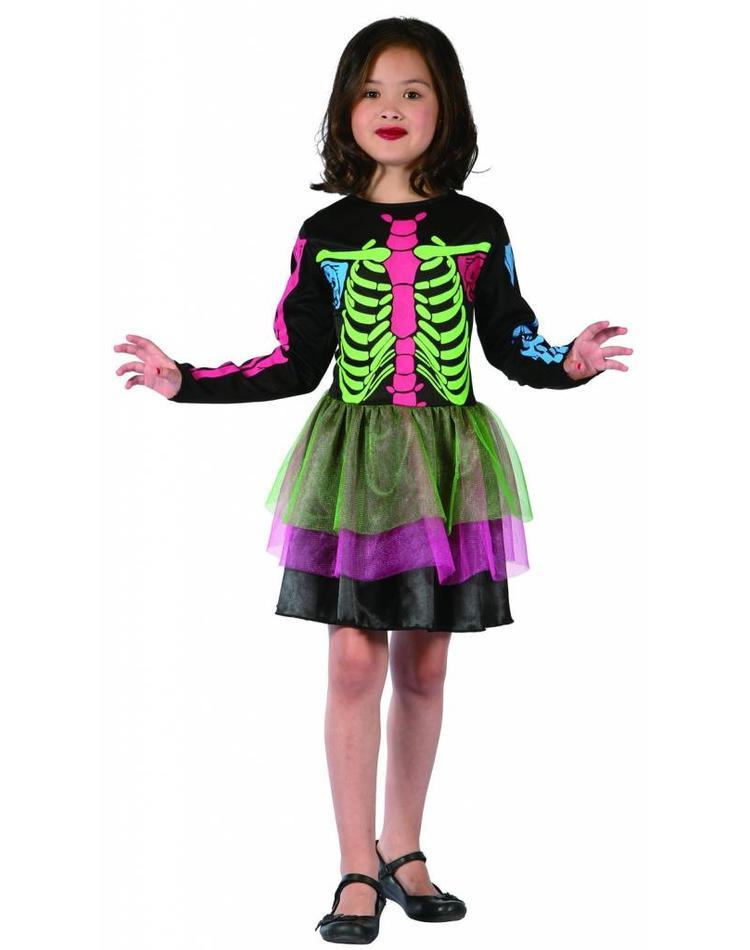 Skelett Maske für Kinder in bunten Farben - Magicoo