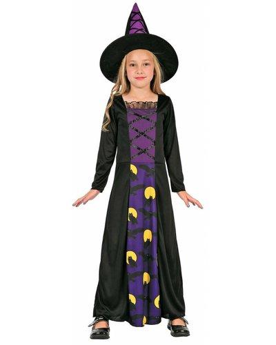 Magicoo Eulenhexe - Hexenkostüm für Kind lila-schwarz - Hexenkostüm Mädchen