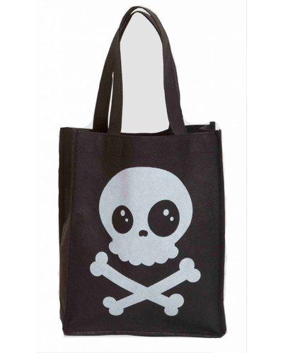 Magicoo Halloween Tasche für Süßigkeiten mit Totenkopf