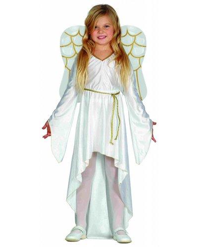Magicoo Weiß-Goldener Engelkostüm Kinder
