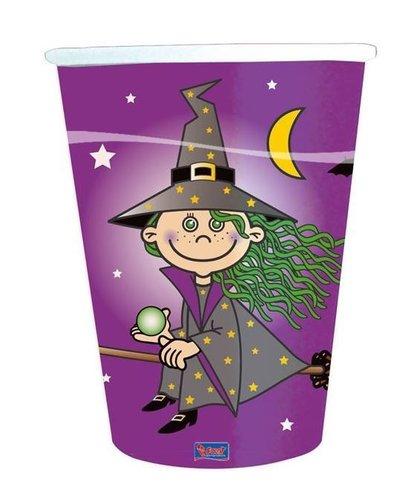 """magicoo 8 Becher mit dem Motiv """"Hexe"""" für Halloweenparty"""