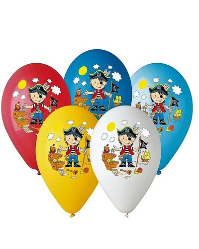 Magicoo Bunte Luftballons mit Piratenmotiv