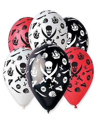 Luftballons für Piratenparty in drei Farben