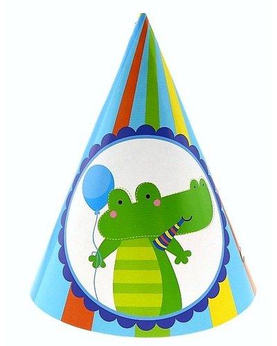 """Magicoo Partyhüte """"Krokodil"""" blaugrün für Tierparty"""