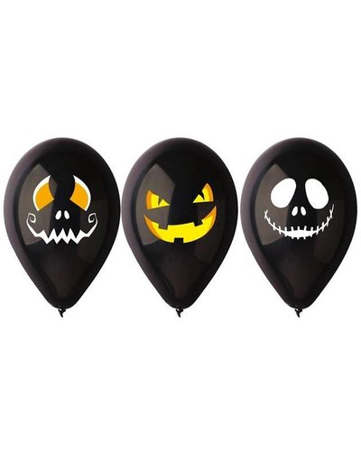 Magicoo Schwarze Luftballons mit Halloween-Motiven